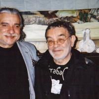 Boix con Arrabal en Paris 1997. Foto Jean Fournier