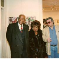 Boix con Celia Cruz y su marido