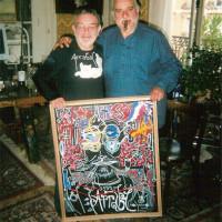 Boix con Fernando Arrabal en Paris
