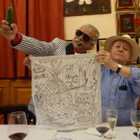 Avec l'écrivain et diplomate Jorge Edwards a mon anniversaire, Madrid 2011
