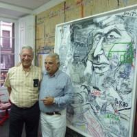 Avec l'écrivain Mario Vargas Llosa dans l'atelier, Madrid 2011
