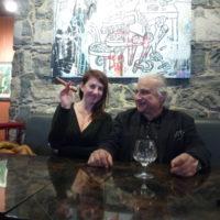 Avec Christelle Langréné, dans le restaurant Le Patio, Genève 2017