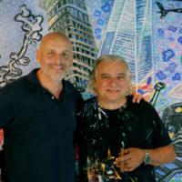 Avec Philippe Chevrier, Restaurateur étoilé et amateur d'art passioné, dans l'atelier, Genève 2017