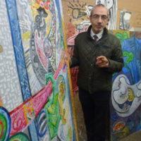 Francois Chabanian, propriétaire et directeur du groupe Bel-Air Fine Art, dans l'atelier de Boix, Genève 2017